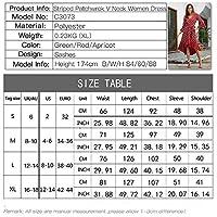レディースサマードレスピース ポルカドットVネックのイブニングドレスの女性の長袖のドレスパーティーベストマッチ シンプル ゆったり (色 : Black, Size : L)