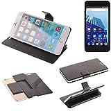 K-S-Trade® Schutz Hülle Für Archos 50 Access 3G Schutzhülle Flip Cover Handy Wallet Case Slim Handyhülle Bookstyle Schwarz
