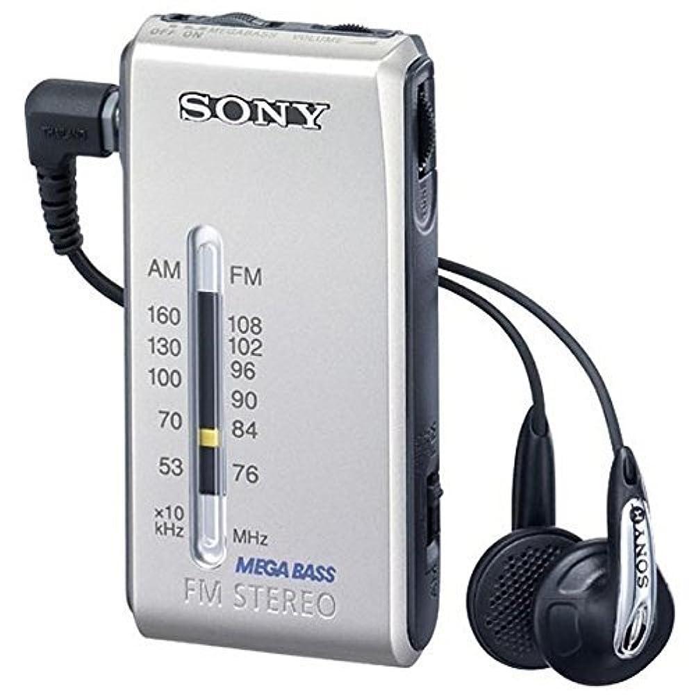 寺院空虚信者SONY FMステレオ/AMポケッタブルラジオ シルバー SRF-S86/S