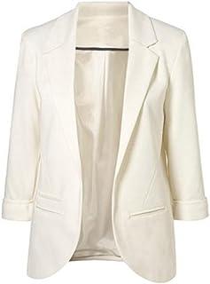 Damen Mantel Überzieher Kunstleder Langarm Solide Reißverschluss Knopf