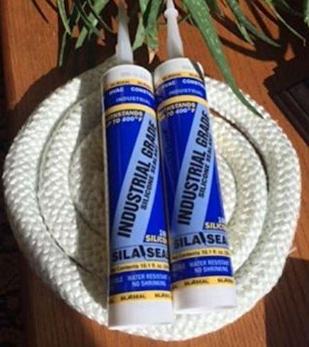 """Heatmor Outdoor Wood Boiler, Door Seal Kit, W/(7') 1"""" Rope (2) Silicone."""