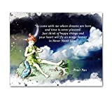 peter pan artwork - Peter Pan Quotes Wall Art, 8