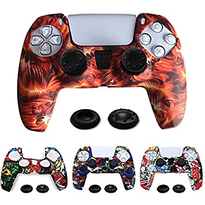TIANHAO PS5 Controller Skins, 4 Pack Silicone P...