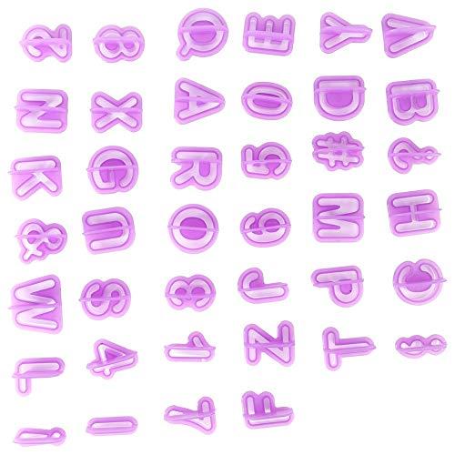 Koekvormen Siliconen fondant vormen, huisgemaakte 26 letters + 9 cijfers + 5 symbolen taartvorm siliconen vormen bakken gereedschap voor feestjes, taartdecoratie DIY maken