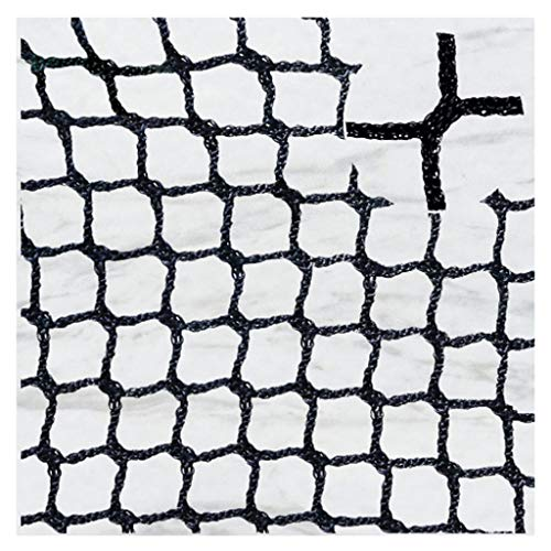 Netz Balkon,Sicherheitsnetz Schwarz Netz Kinder Fenster Schutznetz Treppennetz Seilnetz für Golf FußBall Badminton Absturzsicherung Katzen-Schutznetz Katzen Nylon Mesh Backstop Universal Netze