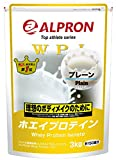 「アルプロン WPI ホエイプロテイン100 3k 約150食 プレー WPI ALPRON 国内生産」の画像