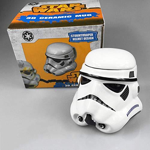 Persönlichkeit Keramik Tassen Hot Movie Star Wars Schwarz Weiß Samurai Kaffeetasse Charakter Darth Vader Tassen Kaffeetassen Trinkgeschirr GIF-Weiß