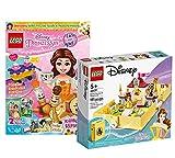 Collectix Lego 43177 - Juego de libro de cuentos de hadas de la princesa Belles (incluye cuaderno de las princesas Lego, póster, cómics)