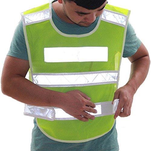 Ueasy-Giubbotto riflettente di sicurezza Gilet ad alta visibilità con strisce riflettenti, taglia unica