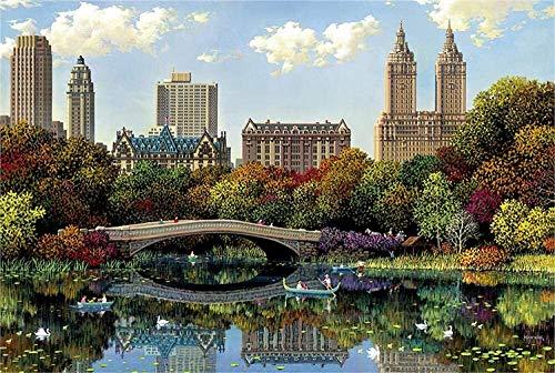 Puzzle de Adultos New York Central Park Fragment Puzzle Juego para los preescolares Aprendizaje Familiar Educación (Size : 3000 pcs)