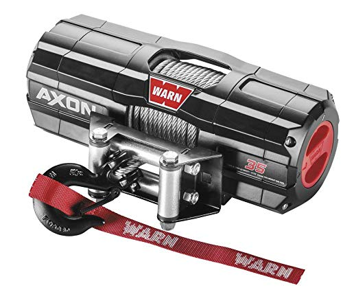 Best Prices! New Warn Axon 3500 lb Winch With Model Specific Mounting Hardware - 2007-2011 Yamaha Ko...