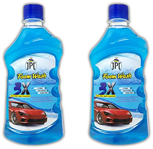 JPT CAR WASH FOAM SHAMPOO WITH ADVANCE 3X FOAM FORMULA (1 LTR)