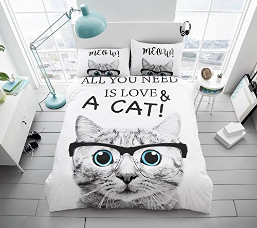 New All You need is Cat Love Duvet/Quilt Cover Bedding Sets With Pillow Case Double King (Double, All You Need is Cat Love)