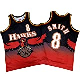 Camiseta de Baloncesto para Hombre NBA Atlanta Hawks 8# Josh Smith Cómodo/Ligero/Transpirable Malla Bordada Swing Swing Sworing Sweatshirt,XL