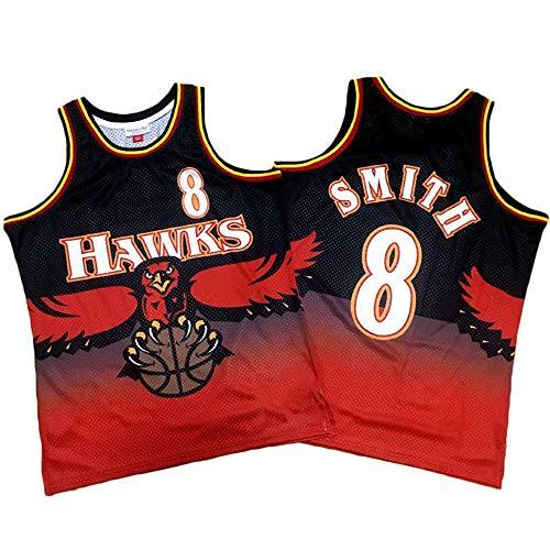 TGSCX Camiseta de Baloncesto para Hombre NBA Atlanta Hawks 8# Josh Smith Cómodo/Ligero/Transpirable Malla Bordada Swing Swing Sworing Sweatshirt,L