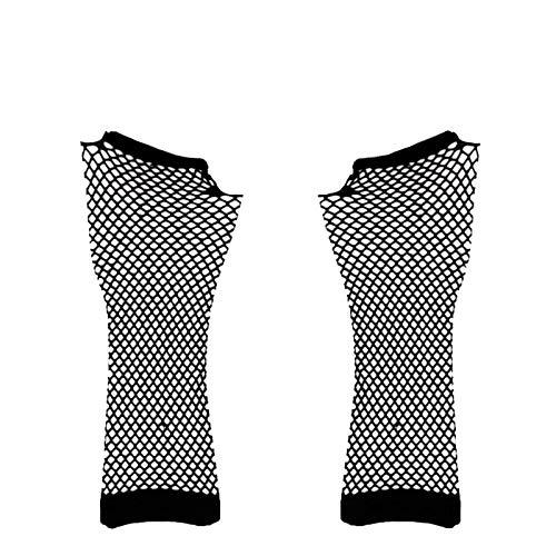 Guantes de Malla de Nailon sin Dedos Guantes de Malla elástica de muñeca para niñas Ropa de Mujer