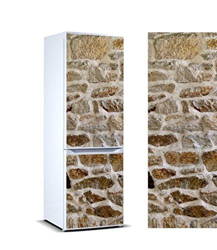 Pegatinas Vinilo para Frigorífico Revestimiento mamposteria de Piedra Irregular | Varias Medidas 185x70cm | Adhesivo Resistente y de Fácil Aplicación | Pegatina Adhesiva Decorativa de Diseño Elegante