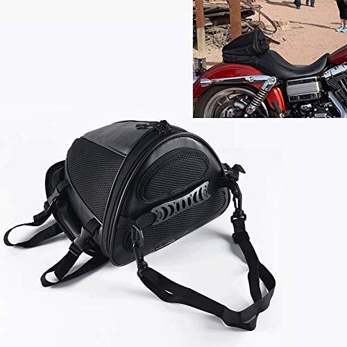 BOLLAER - Bolsa para sillín Trasero de Motocicleta, Impermeable, para Motocicleta, Bicicleta, Motocicleta, Tanque