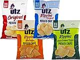Utz Original, Ripples, Ripples BBQ, Ripples Sour Cream & Onion Potato Chip Variety Pack (1-14.5oz Bag of Each)