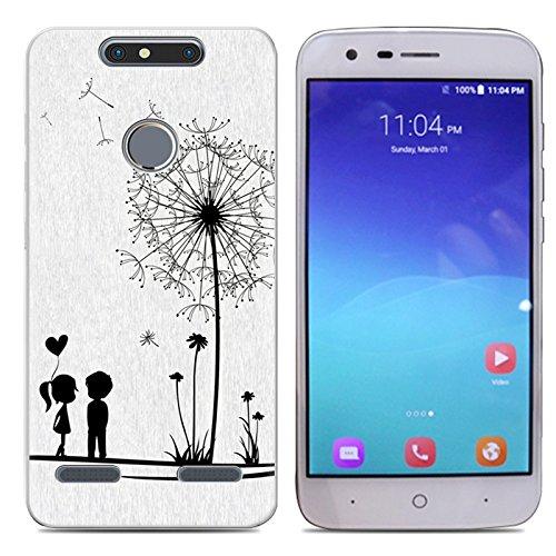 Easbuy Handy Hülle Soft Silikon Case Etui Tasche für ZTE Blade V8 Lite Smartphone Cover Handytasche Handyhülle Schutzhülle