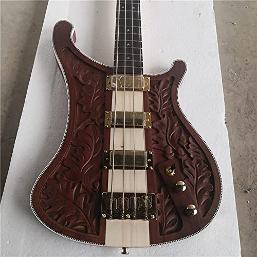 KEPOHK 4 String Electronic Bass Chocolate