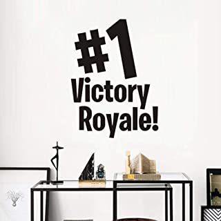 kjyab Wall Stickers & Murals Vinyl Wall Sticker for Kid Room Mural Quote Game Room Decal Bedroom Playroom Victory Royale Home Decoration Poster