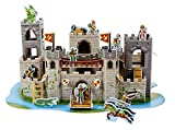 Product Image of the Melissa & Doug Medieval Castle 3-D Puzzle and Play Set - Dragon and Knights (100...