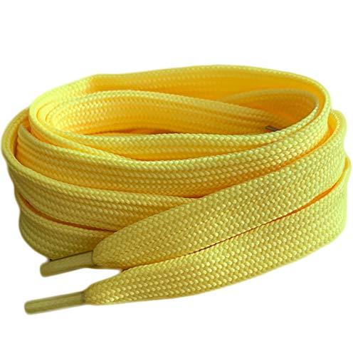 De color amarillo plana cordones para zapatillas Converse botas de zapatos de...