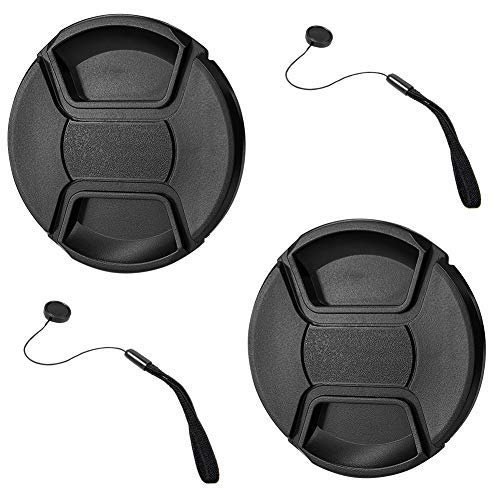 GAOAG 2 Pack 52mm Center Pinch Lens Cap for Nikon Canon Sony DSLR Camera Compatible with Nikon D3000 D3100 D3200 D3300 D5000 D5100 D5200 D5300 D5500 and Any Lenses with 52mm Filter Thread