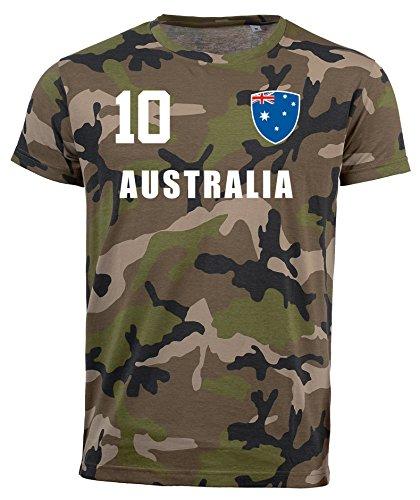 aprom Australien Camouflage T-Shirt - All-10 - Trikot Army Look WM World Cup Australia (2XL)