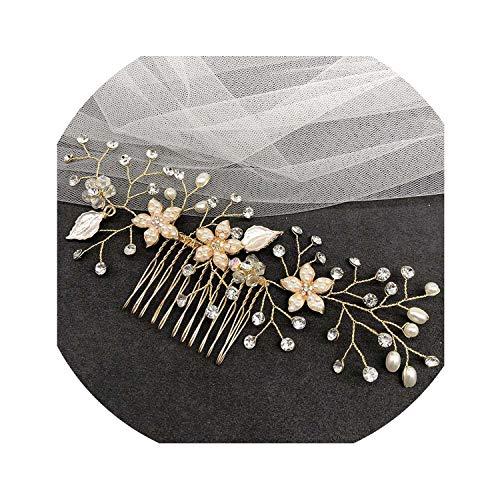 Beenle Icey-headbandsAccesorios para el pelo para novia, peines de cristal, accesorios para el pelo, joyería hecha a mano, para mujeres, adornos para el pelo, Size23, 048,