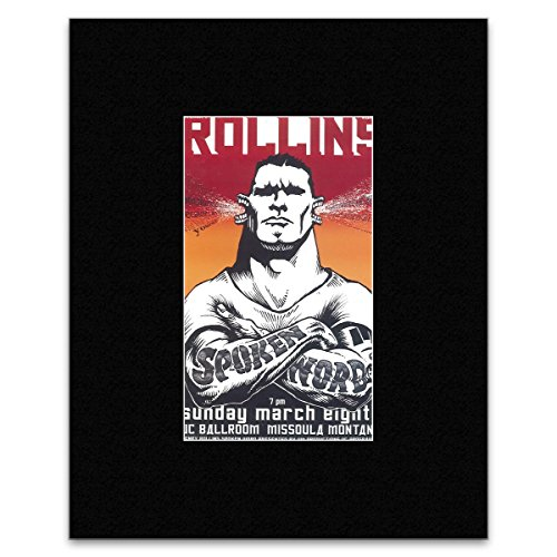 Stick It On Your Wall Mini-Poster, Motiv: Henry Rollins, Think Tank 1998, 28,5 x 16 cm