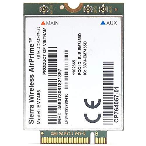 Gaoominy Wwan Em7455 LTE 4G Ngff Módulo Fdd/Tdd LTE 4G Cat6 Gobi6000 para Computadora Portátil
