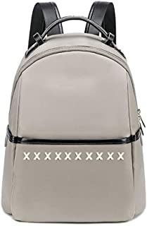 North face Backpack Female Oxford Cloth Backpack Waterproof Outdoor Small Backpack Wild Fashion Black Simple Backpack The North face Backpack (Color : Apricot)
