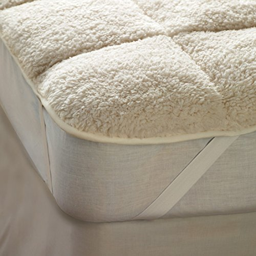 The Bettersleep Company Reversible Teddy Bear Fleece Mattress Enhancer Supersoft Warm Sherpa Fleece Top and Cool Microfibre Reverse Side For All Seasons - Kingsize