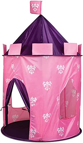 Girls Princess Fairy Tale Castle Play Tent Rosa Prairie Design-Foldable for Indoor & Outdoor Use