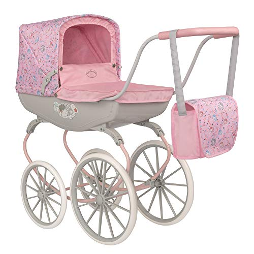 HTI Baby Annabell Carriage Toy Dolls Pram | Kids Baby Doll Toys Pushchair Stroller Prams For Childrens Girls & Boys Age 3 Year Olds and Up