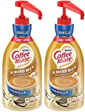 Nestle Coffee mate Coffee Creamer, Dairy Free, Almond Milk Vanilla, Liquid Pump Bottle, 50.7 Ounces (Pack of 2)