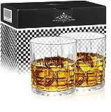 Homii Whisky Gläser, Whiskeygläser aus Kristall Set Geschenk, 2-teiliges,300ml - 6