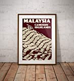 AZSTEEL Vintage Poster Malaysia Cameron Highlands | Poster
