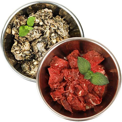 Barf-Snack schmackhaftes Rohfutter für Hunde & Katzen - Sparpaket Pferd & Pansen (28kg x 1000g) gesundes Frostfutter/Gefrierfutter produziert in Deutschland