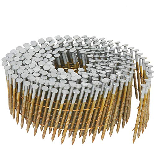 Metabo HPT Siding Nails, 1-1/4-Inch x .092-Inch, Collated Wire Coil, Full RoundHead, Ring Shank, Hot-Dipped Galvanized, 3600 Count (13361HPT)