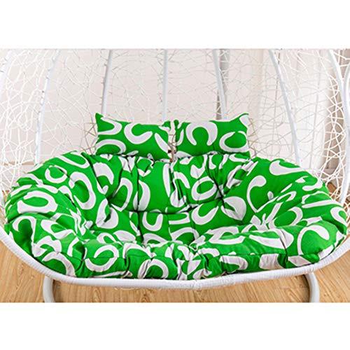 Cojín para silla mecedora gruesa para colgar silla cojín colorido nido hamaca asiento columpio suave jardín silla cojín para 1 2 plazas (6 coloridos)