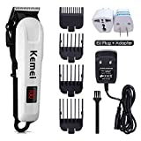 Professional Hair Clippers, Rechargeable Hair Trimmer, Hair Cutting kit with Charge Station