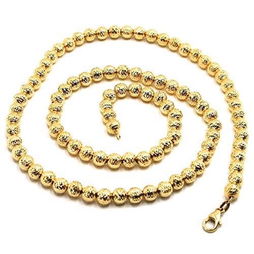 KETTE GOLD KETTE 18K 750, VORATE, DIAMANTATE, DIAMETER 5 MM, FALLINE SFACCETTATE, 45 CM, MADE IN ITALY