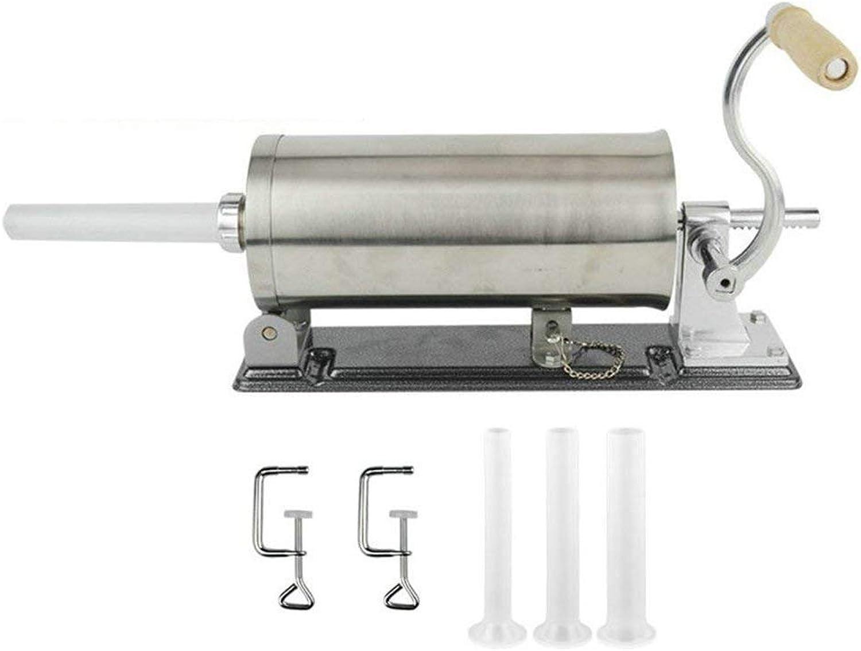 Selbst Gemachte Horizontale Wurst-Füller-Handels-Royala-Manuelle Edelstahl-Wurst-Spritzen-Hersteller-Fleisch-Stuffer 3.6 L W     4, Die Rohre Füllen B07FZ3RMPM fd7214