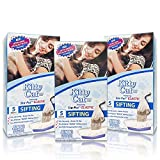 Alfapet Kitty Cat Pan Disposable, Elastic Sifting Liners- 5-Pack + 1 Solid Transfer Liner -For Large, X-Large, Giant, Extra-Giant Size Litter Boxes- With Easy Fit Sta-Put Technology - Pack of 3