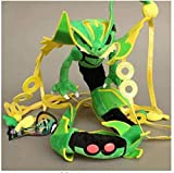 NC56 Stuffed Toys Cartoon Xy Green Shiny Mega Rayquaza Plush Soft Toy Stuffed Animal Doll Collectible Gift 80Cm
