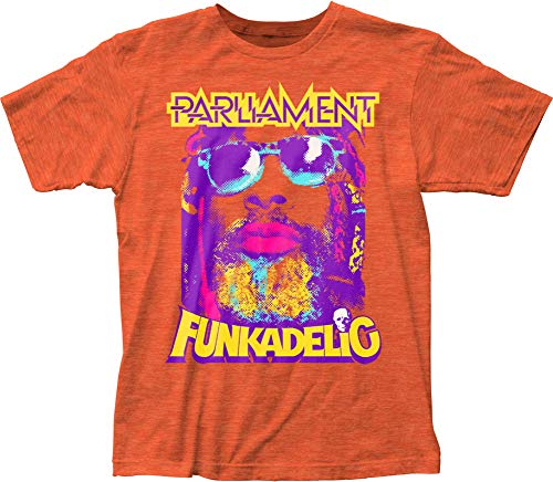 DressCode George Cliinton Mensgeorge Clinton P-Funk Fitted Jersey T-Shirt, Size: Small, Color: Heather Orange
