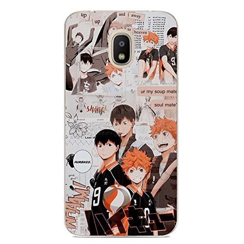 Clear Case Crystal Thin Soft Cover for Samsung Galaxy J7 2018-Haikyuu-Anime 2